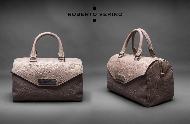 Roberto Verino Brocade, leather and metallic Carmen Barroco bag