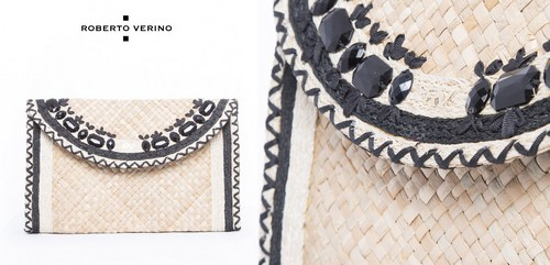 Roberto Verino Clutch Claudia rafia natural