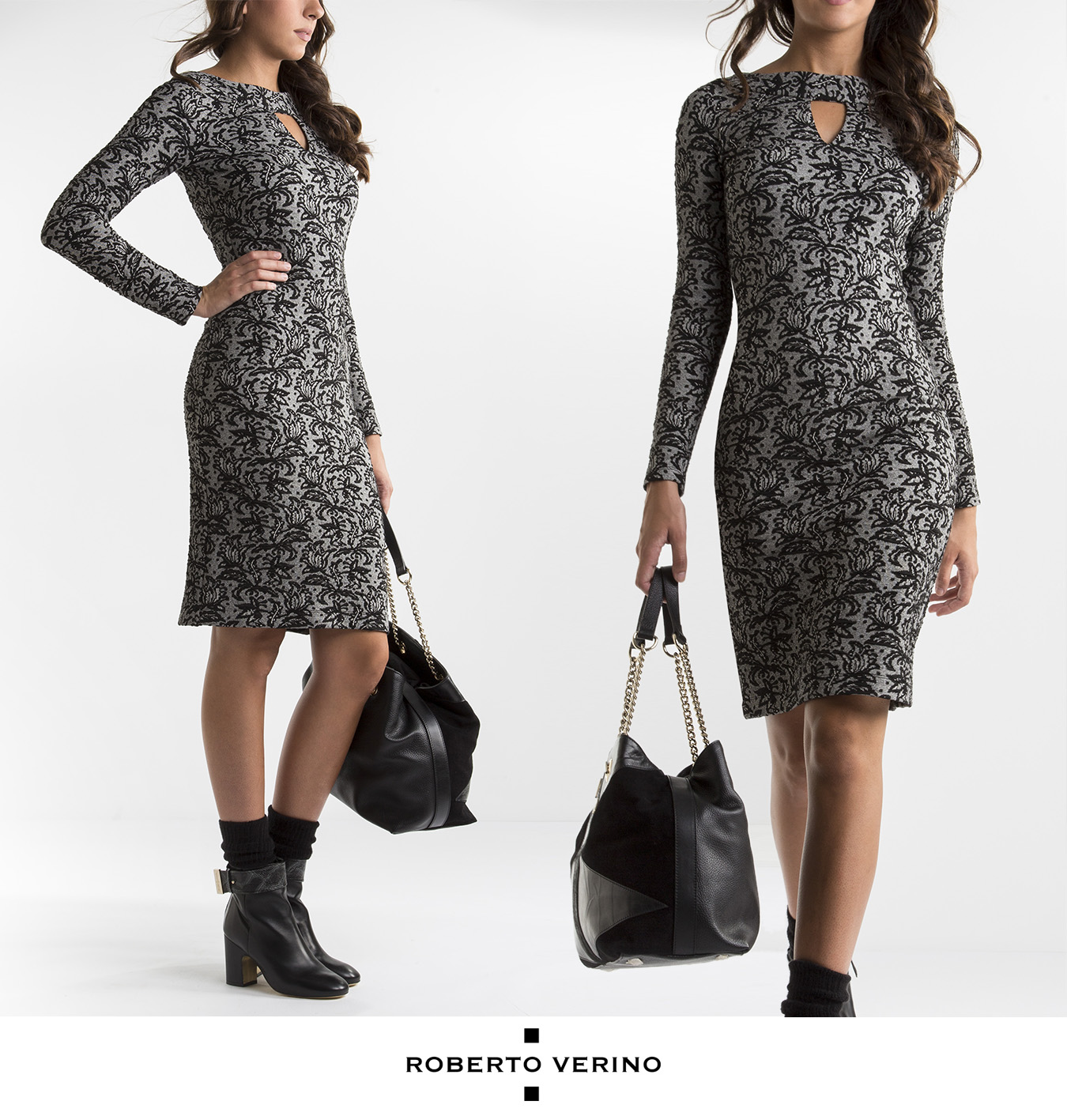 Floral print knit dress - Roberto Verino