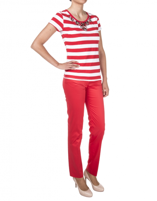 Red striped t-shirt