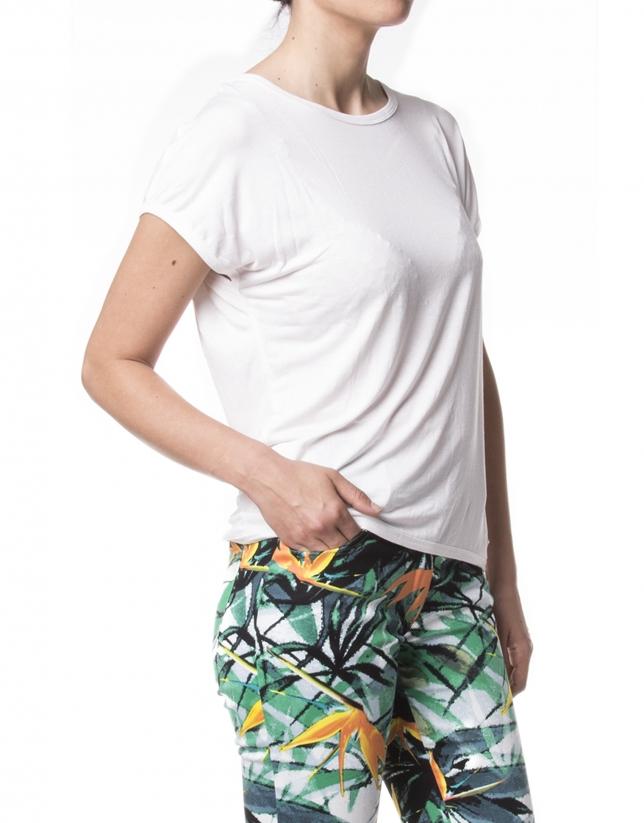 Camiseta básica manga corta blanca