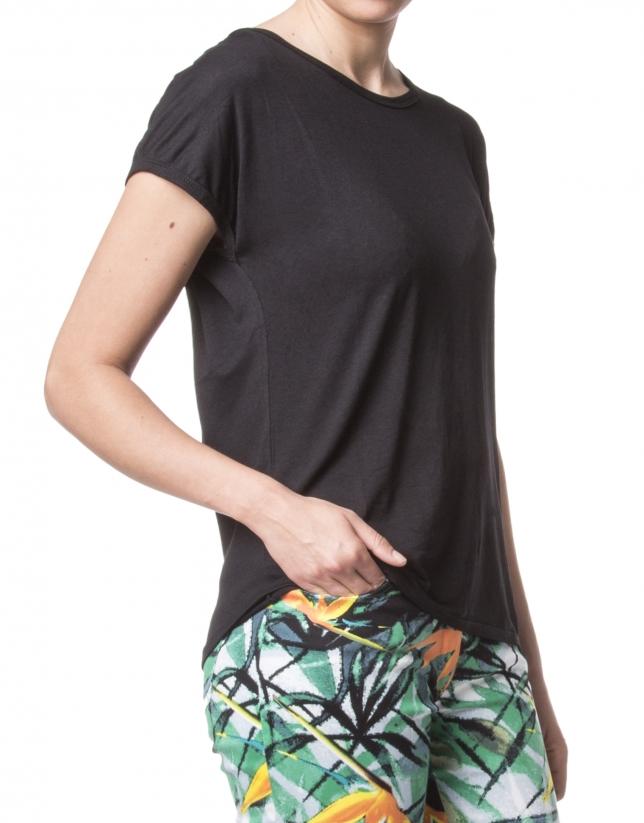 T-shirt classique noir à manches courtes