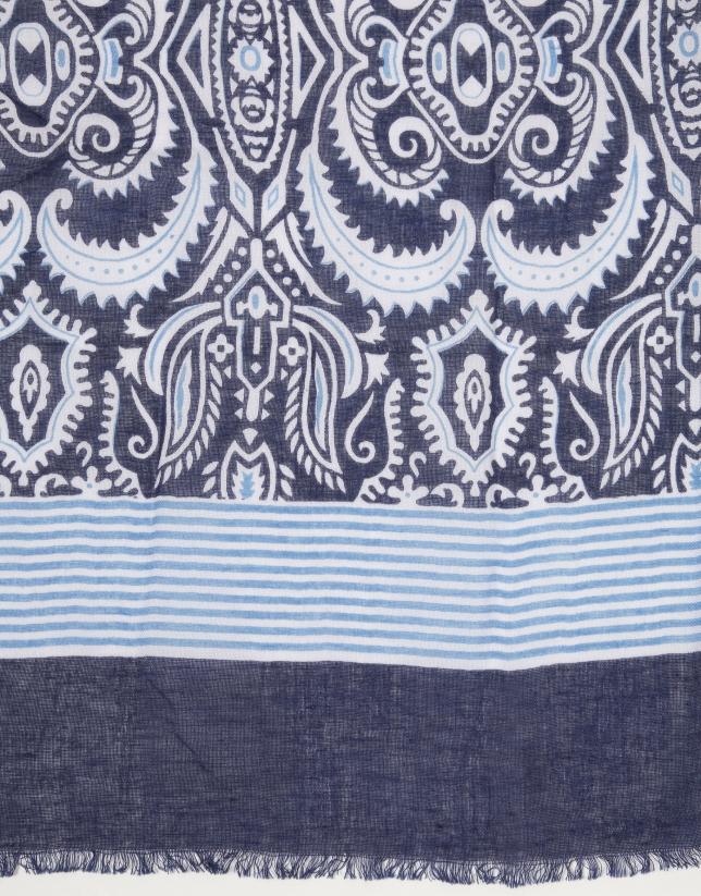 Foulard paisley azul