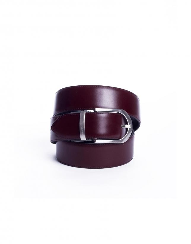 Cinturón liso reversible