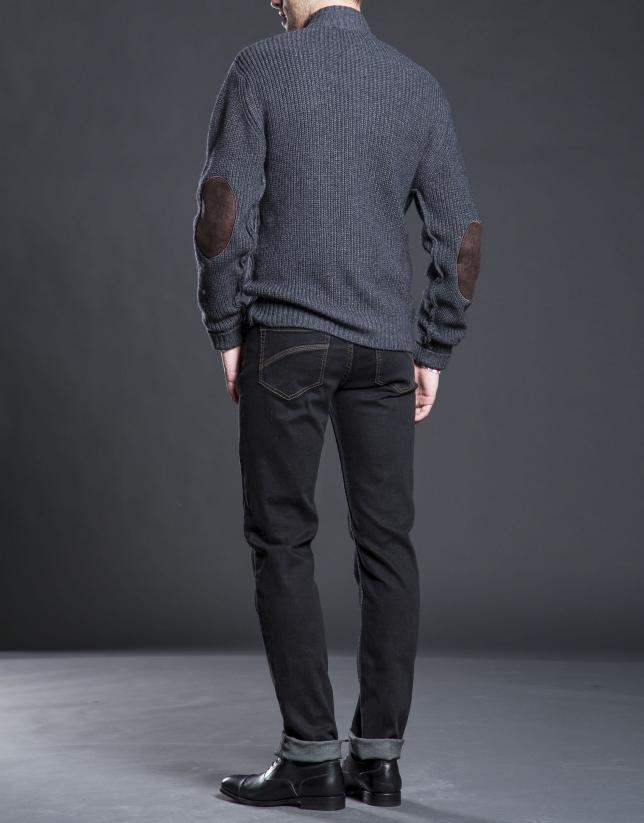 Gilet avec poches gris