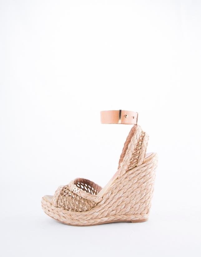 Natural braided raffia Marsella sandals