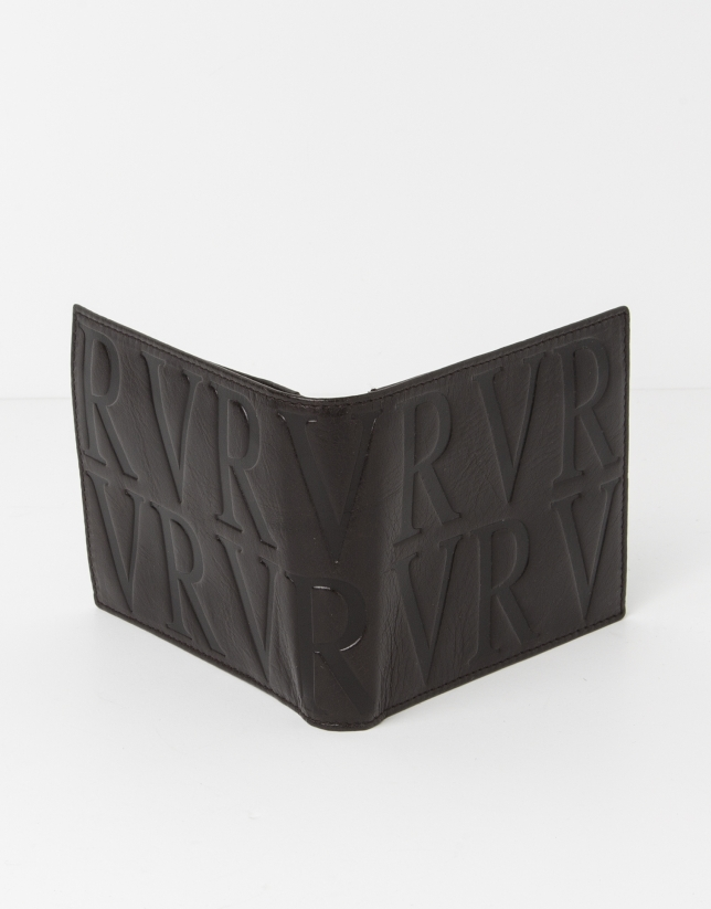 Brown leather wallet with change purse inside