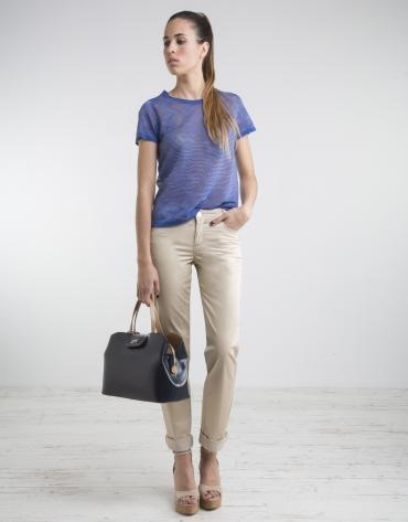 Blue short sleeved top