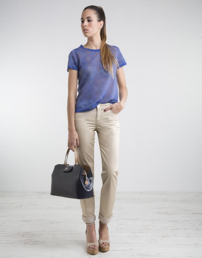 Camiseta manga corta azul