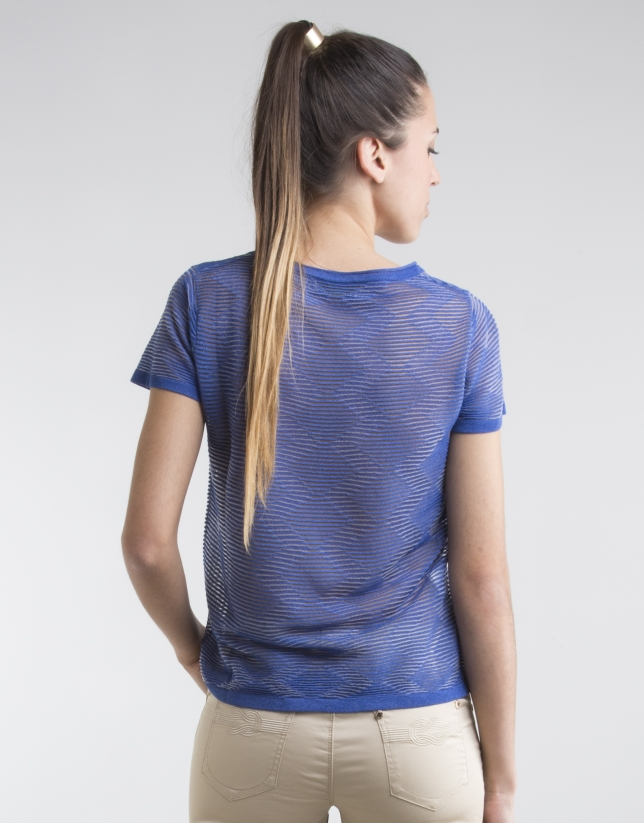 Blue short sleeved top