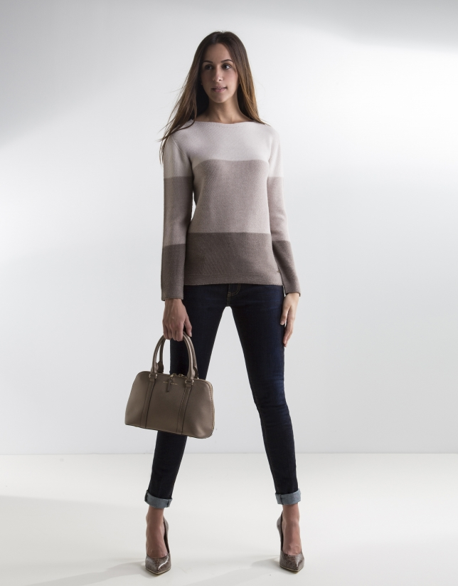 Brown degradé sweater