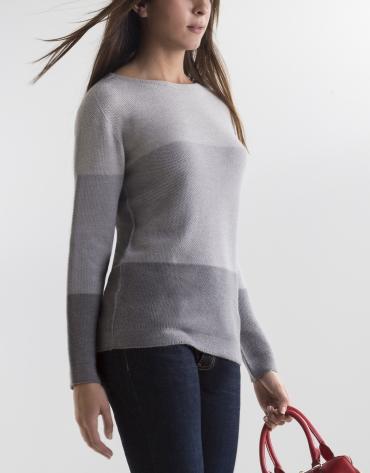 Gray degradé sweater