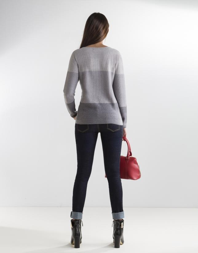 Jersey degradado gris