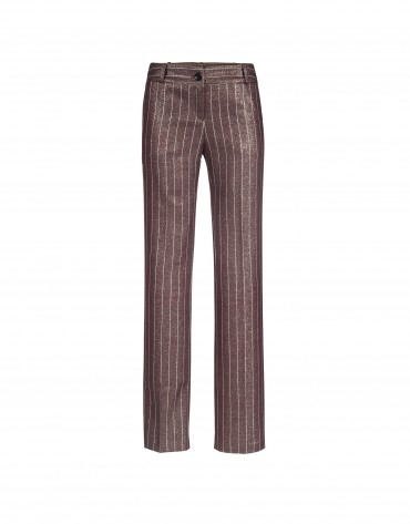 Bordeaux and gold stripe pants
