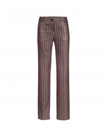 Bordeaux and golden stripe pants