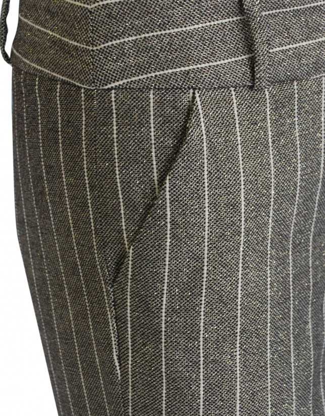 Grey and golden stripe pants