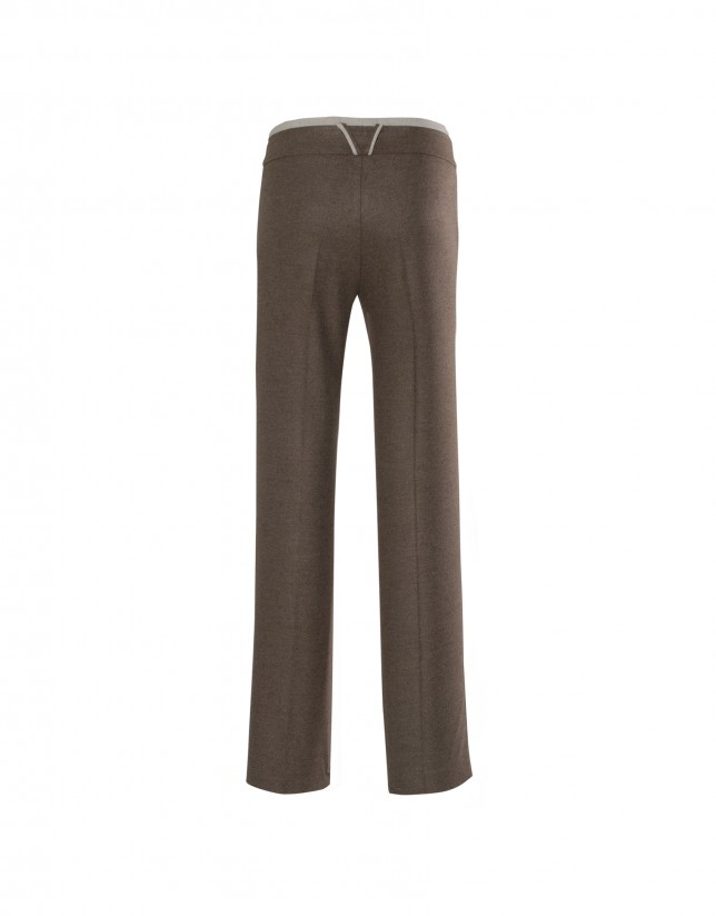 Taupe straight pants