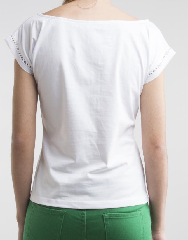 Camiseta entredós blanca