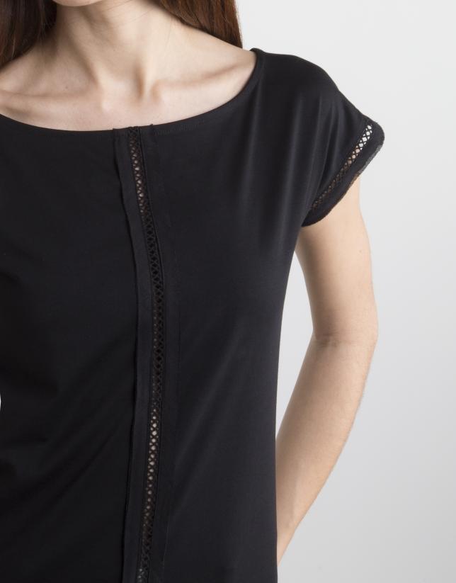 T-shirt entre-deux noir