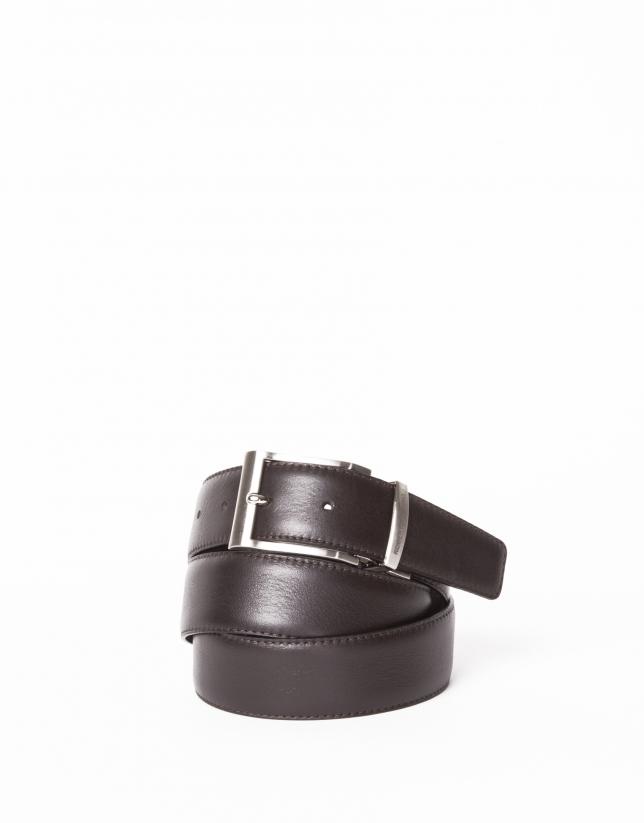 Cinturón vestir reversible negro