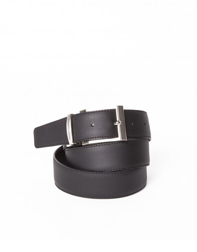 Reversible black dressy belt