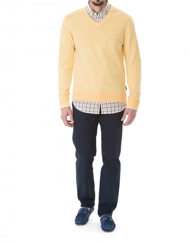 Pull tricot basique mangue