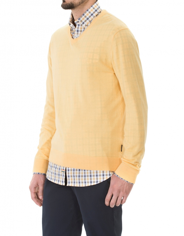 Pull tricot basique mangue