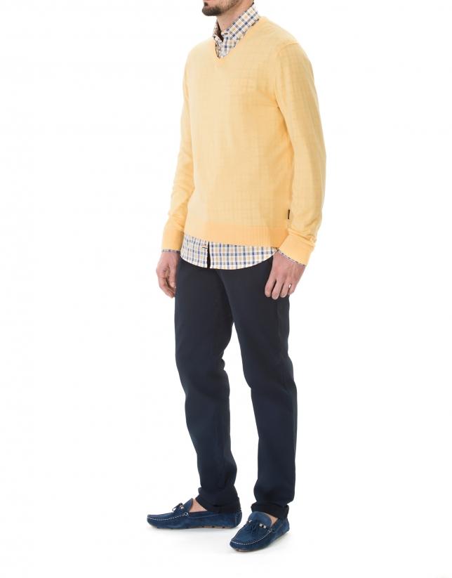 Jersey punto basico mango