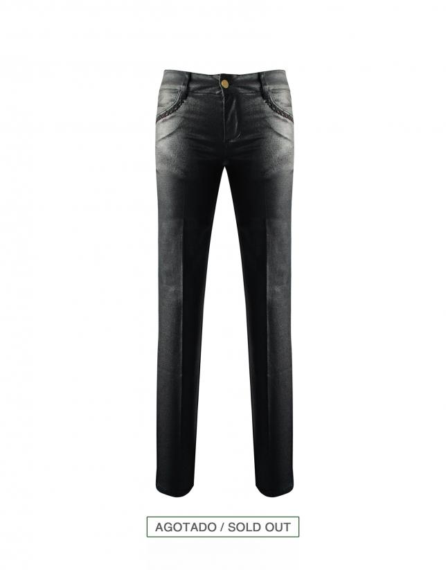 Black denim pants