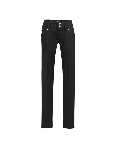 Black skinny stretch jeans