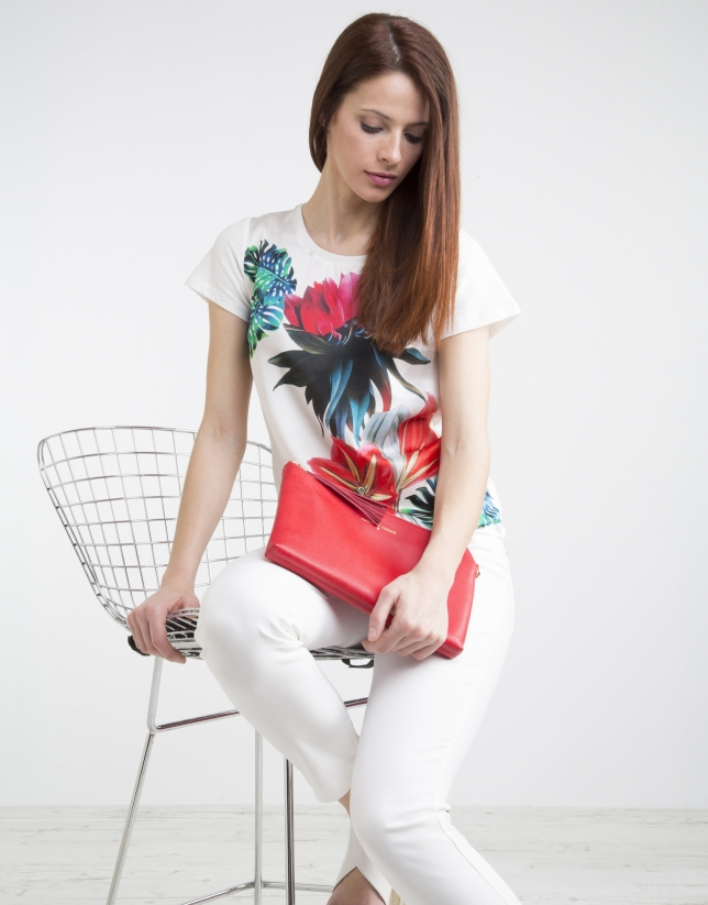 T-shirt à imprimé de fleurs