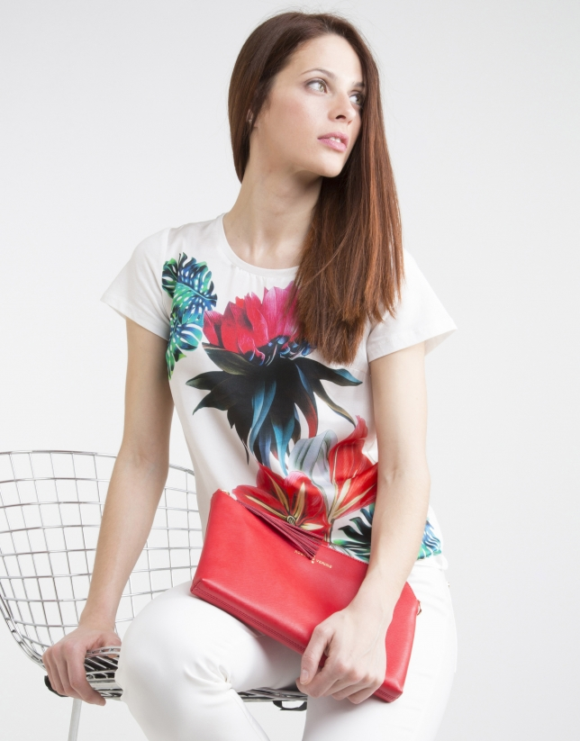 Floral print top