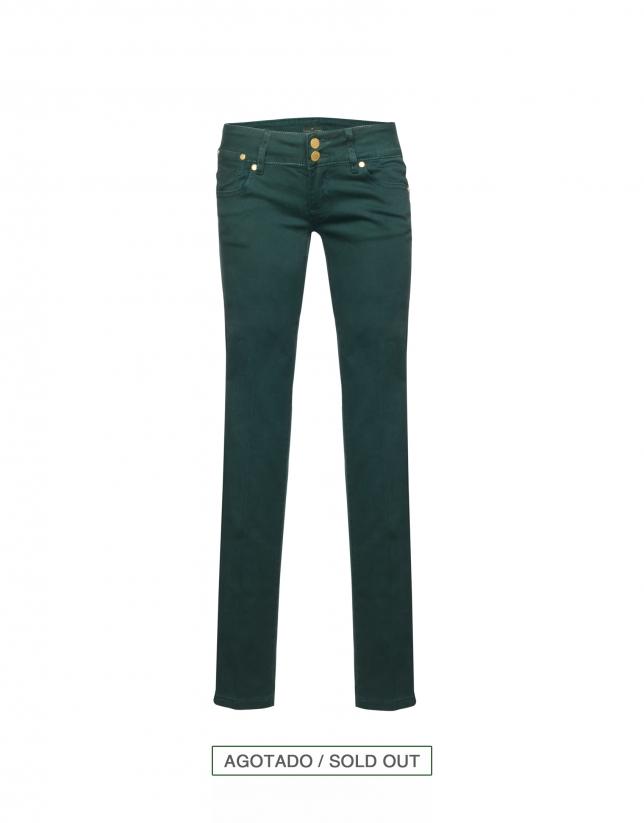 Jeans elásticos verde