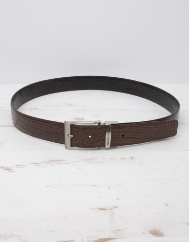 Reversible dress belt brown/black