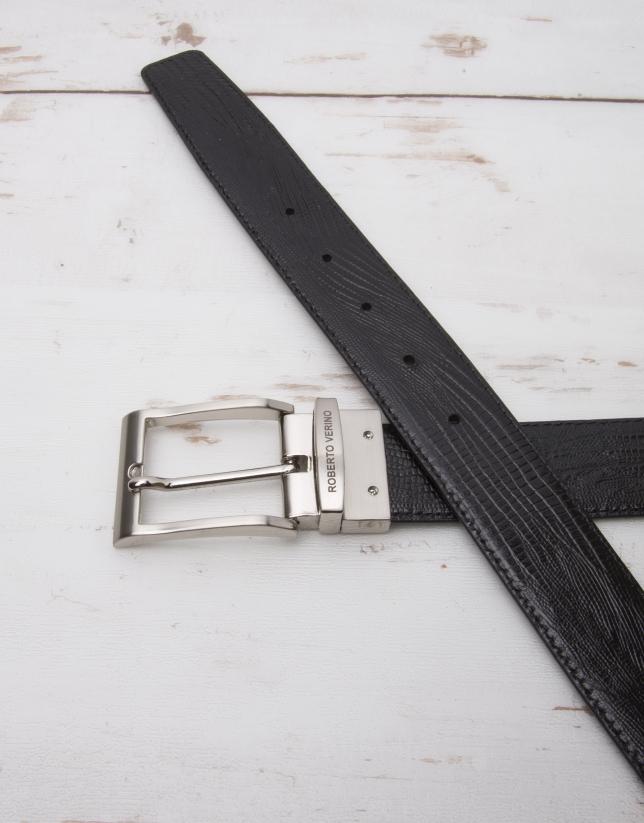 Cinturón reversible grabado
