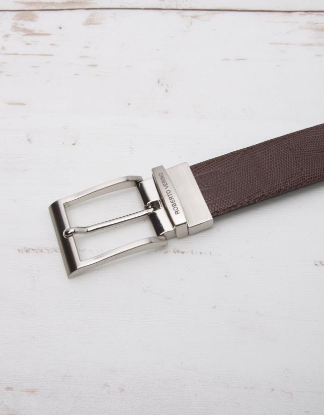 Cinturón vestir reversible marrón/negro