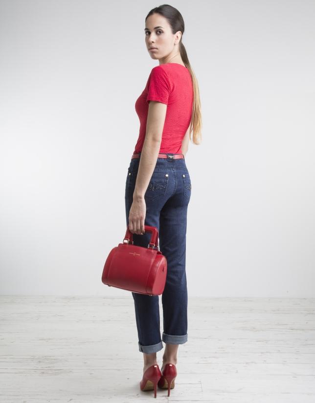 Camiseta escote pico roja