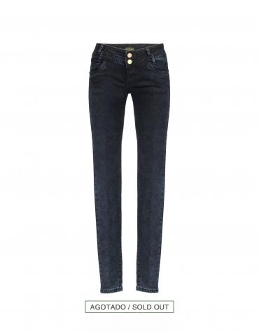 Jeans ceñidos azul