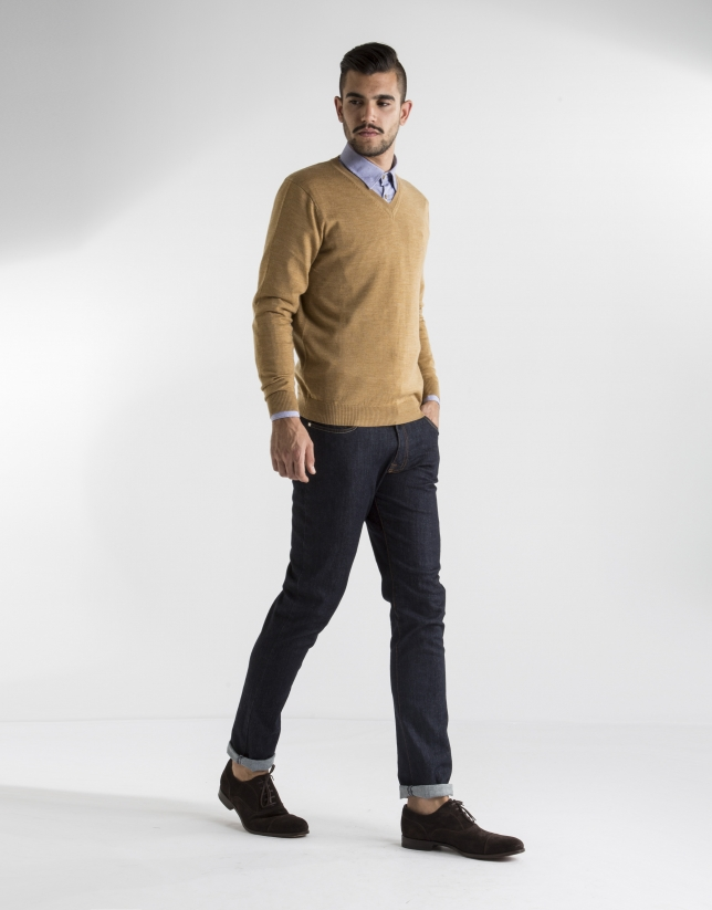 Mustard basic knit sweater