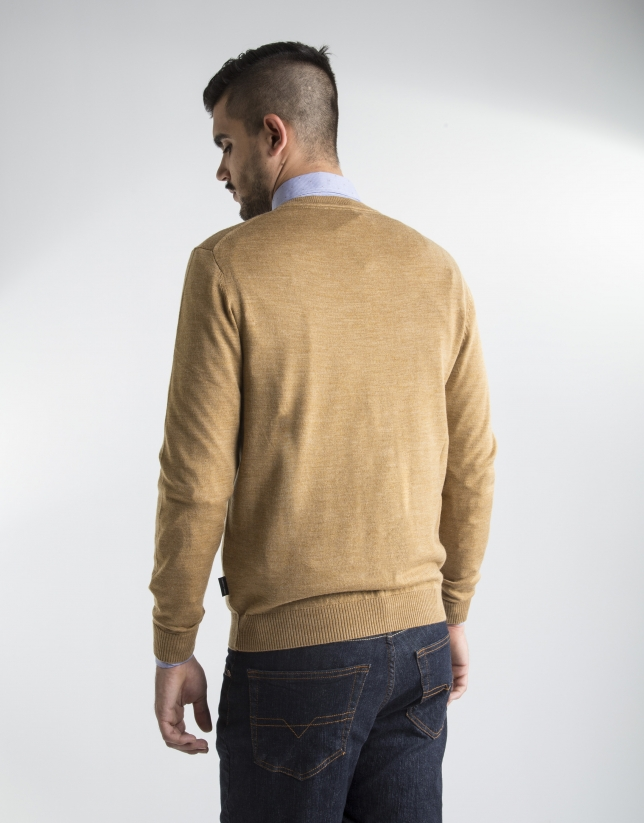 Mustard basic knit sweater