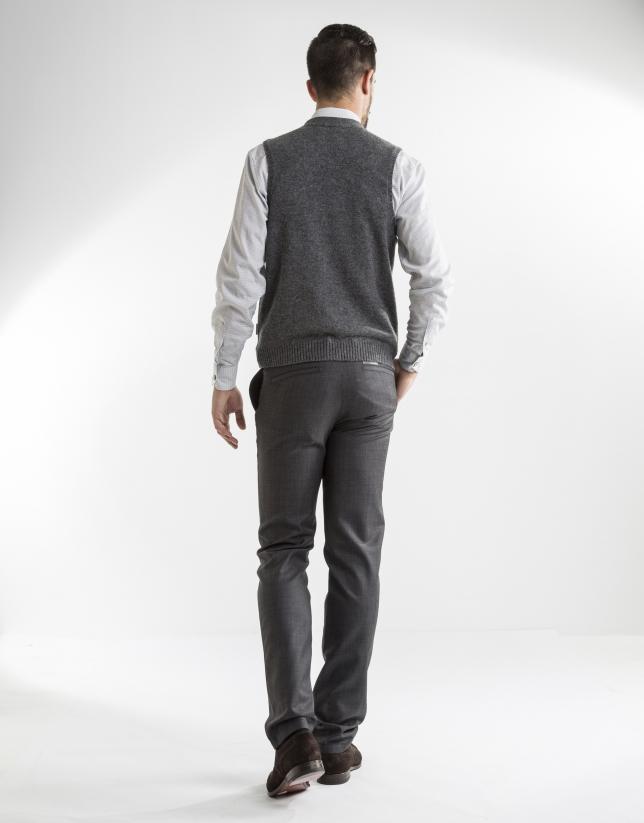 Gilet tricot gris