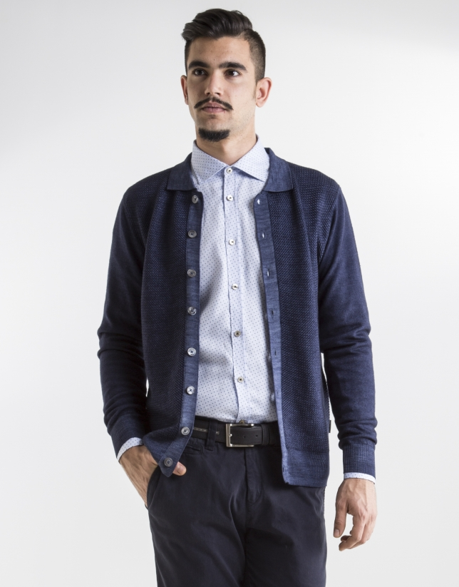 Dark blue structured jacket