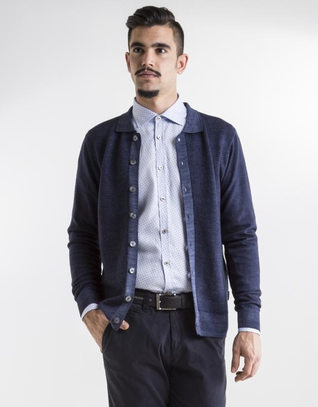 Dark blue structured jacket