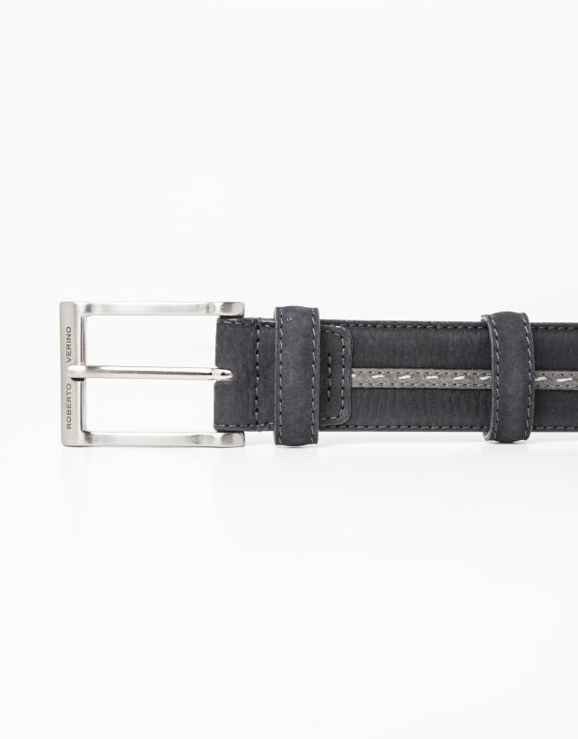 Cinturon tira gris