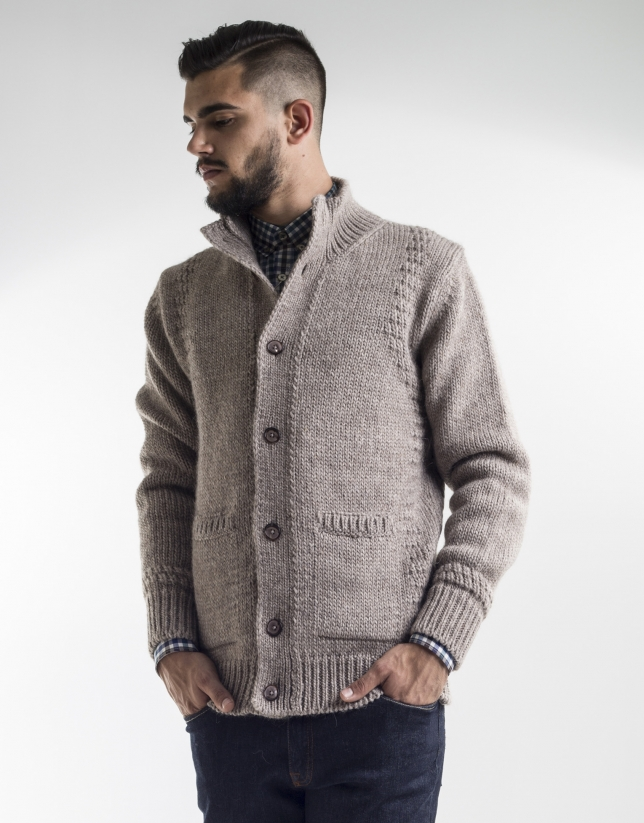 Taupe tapered jacket