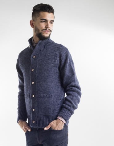 Blue tapered jacket