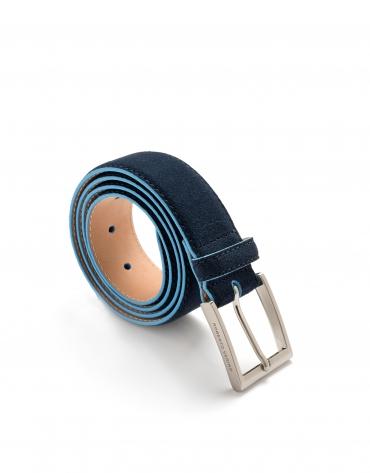 Navy and blue burnished belt