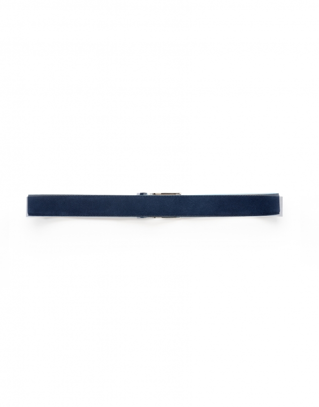 Navy and blue burnished belt