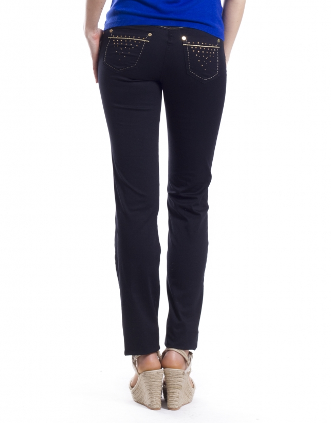 Pantalon 5 poches coton-élasthanne