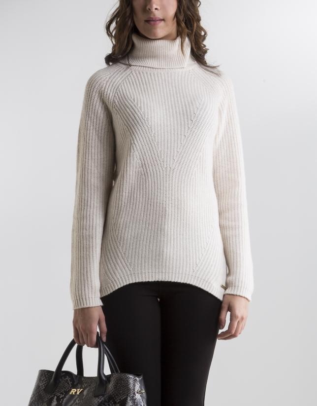 Beige turtle neck sweater